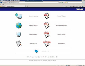 WebSecure's easy-to-use web browser interfac